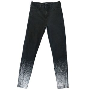 Celebrity Pink High Rise Black Paint Skinny Jeans
